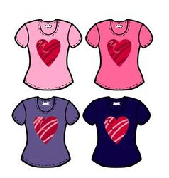 valentines t shirts vector image