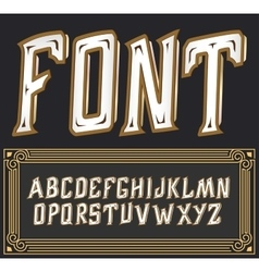 label font with art deco ornament Tower vector image