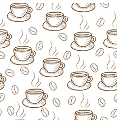 Coffee sketch hand drawing pattern vector image
