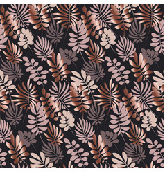 abstract tropical leaves seamless pattern in vector image