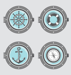 Nautical elements collection vector