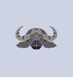 Buffalo head geometric flat design style vector