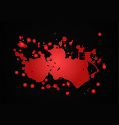 Blood splash  red vector