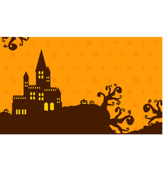 Dark castle background for halloween vector