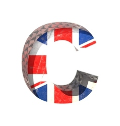 Great britain cutted figure c paste to any vector