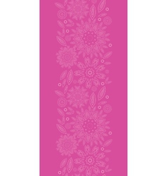 Pink abstract flowers texture vertical seamless vector