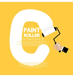 Paint Roller Alphabet C vector image