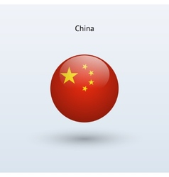 China round flag vector