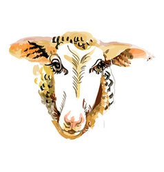 Artistic sheep design vector