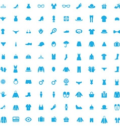 100 clothes icons vector