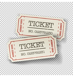 Tickets isolated vector