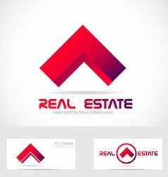 Red real estate house logo icon element vector