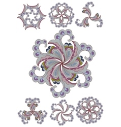 Ornamental round lace vector