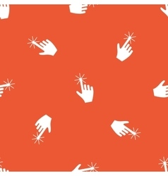 Orange hand cursor pattern vector
