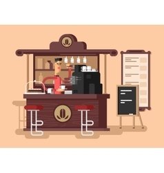 Coffee shop interior vector