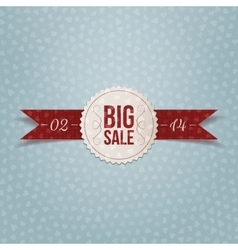 Valentines day big sale realistic white label vector