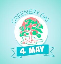 4 may greenery day vector image
