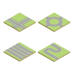 Part of the road highway isometric element vector