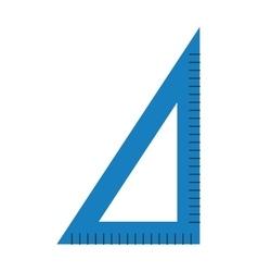Corner ruler tool flat icon vector