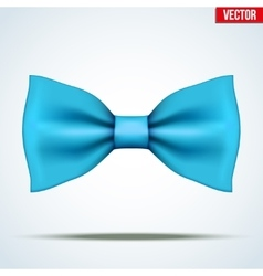 Realistic blue bow tie vector