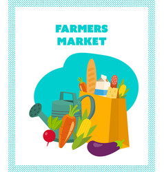 agricultural products grown on their own land vector image
