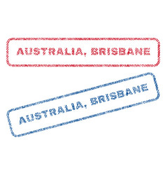 Australia brisbane textile stamps vector