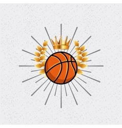 basketball league emblem classic vector image vector image