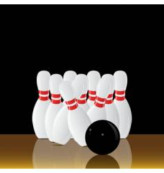 bowling alley vector image
