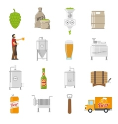 Brewery icons set vector