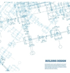 Building design background blue pile caps plan vector