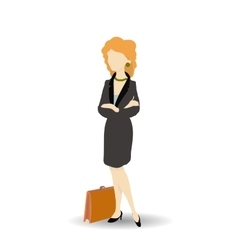 Business woman wearing black suit Isolated on vector image vector image