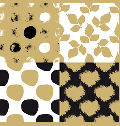 cute art seamless pattern set vector image vector image