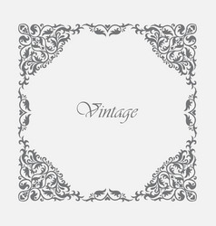 decorative square frame vintage style vector image