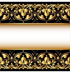 Gold Ornamental Frame Background vector image vector image
