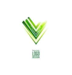 Green futuristic triangle logo vector