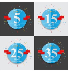Happy anniversary celebration on folded paper sign vector image vector image