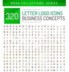 Huge mega collection of letter logo business icons vector