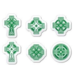 Irish scottish celtic cross on white sign vector
