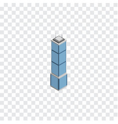 Isolated cityscape isometric apartment vector