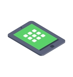 Isometric tablet infographic icon vector image