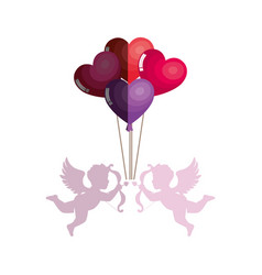 love card with cupid angel vector image vector image