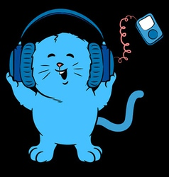 Music kitten vector