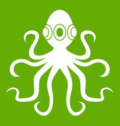 octopus icon green vector image