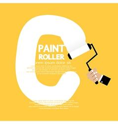 Paint roller alphabet c vector