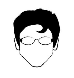 Portrait male with glasses image vector