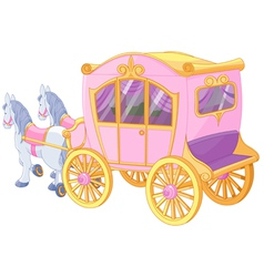 Princess carriage vector