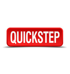 Quickstep red 3d square button isolated on white vector