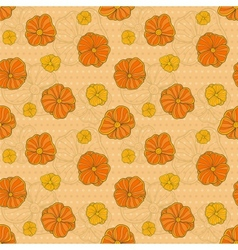 seamless pattern with hand drawn flowers on vector image vector image