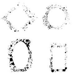 Set of frame grunge vector image