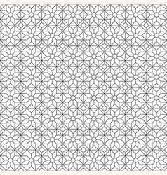 Simple geometric pattern black and white vector